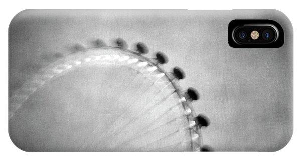 London Eye iPhone Case - Spinning Round by Vangelis Bagiatis