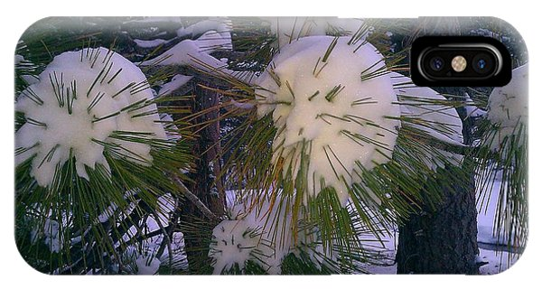 Spiny Snow Balls IPhone Case