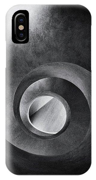 Grain iPhone Case - Spiral And Diagonal by Burghard Nitzschmann