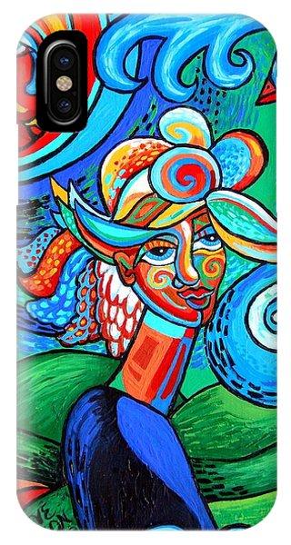 Spiral Bird Lady IPhone Case