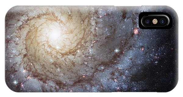 Skyscape iPhone Case - Spiral Galaxy M74 by Adam Romanowicz