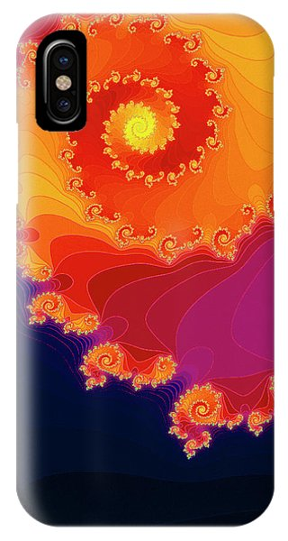 Julia Fractal iPhone X Case - Spiral Of Fate Julia Set Fractal by Gregory Sams/science Photo Library