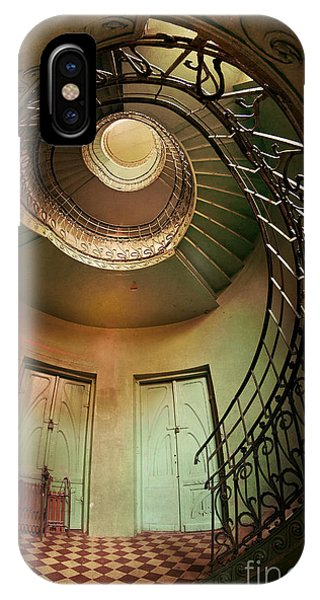 Spiral Staircaise With Two Doors IPhone Case