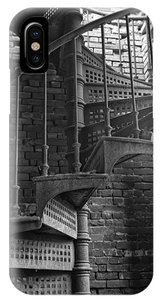 Spiral Staircase In B And W IPhone Case
