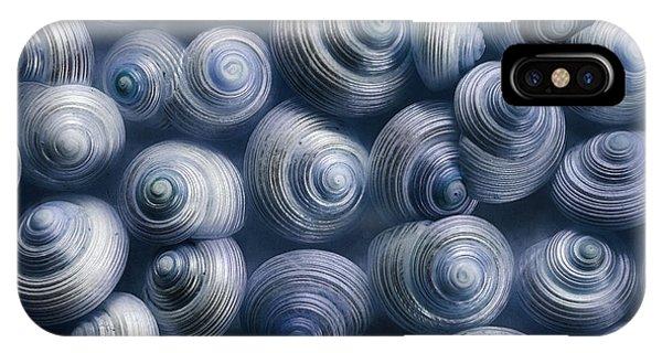 Sea Life iPhone Case - Spirals Blue by Priska Wettstein