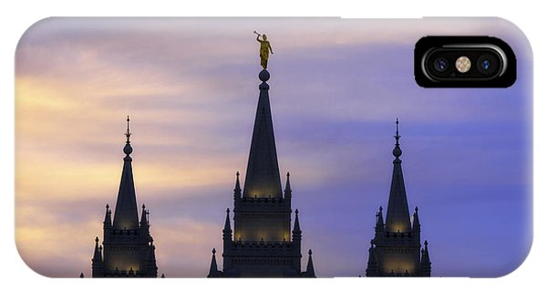 Temple iPhone Case - Spires by Chad Dutson