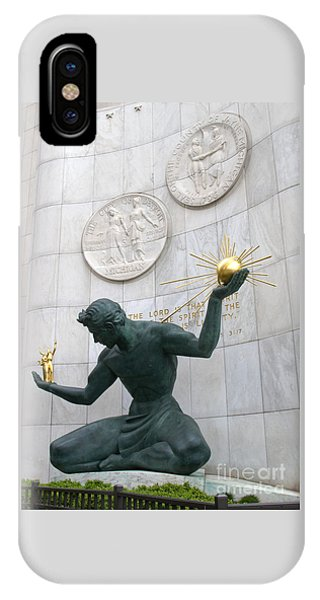 Spirit Of Detroit Monument IPhone Case