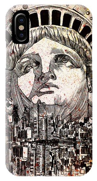 Manhattan Skyline iPhone Case - Spirit Of The City 3 by Bekim M