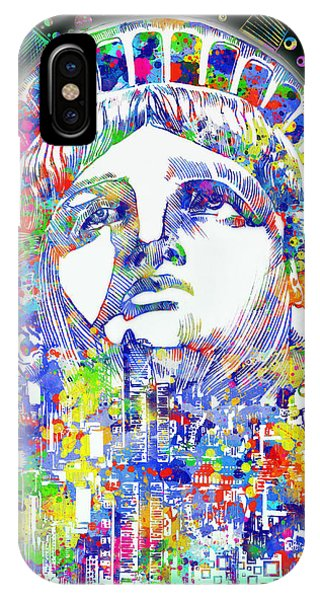 Manhattan Skyline iPhone Case - Spirit Of The City 4 by Bekim M