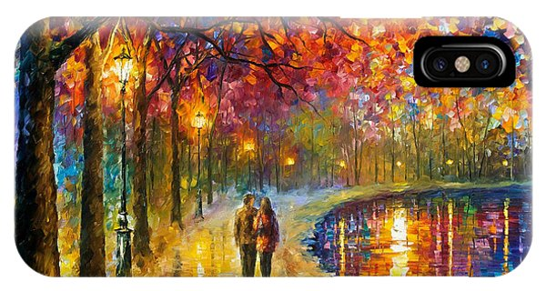 iPhone Case - Spirits By The Lake - Palette Knife Oil Painting On Canvas By Leonid Afremov by Leonid Afremov