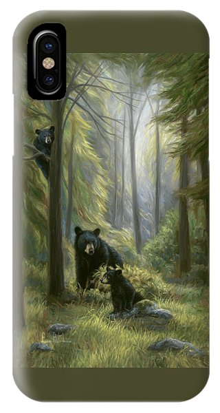 Bear iPhone Case - Spirits Of The Forest by Lucie Bilodeau
