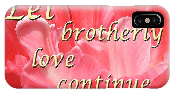 Spiritual Love - Bordered IPhone Case