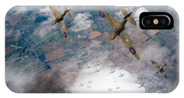 Raf Spitfires Swoop On Heinkels In Battle Of Britain IPhone Case