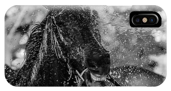 Horse iPhone Case - Splash by Andr??s Pluchinotta