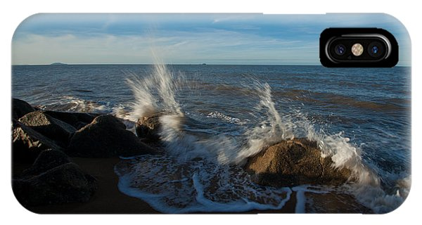 Splash On Rocks IPhone Case