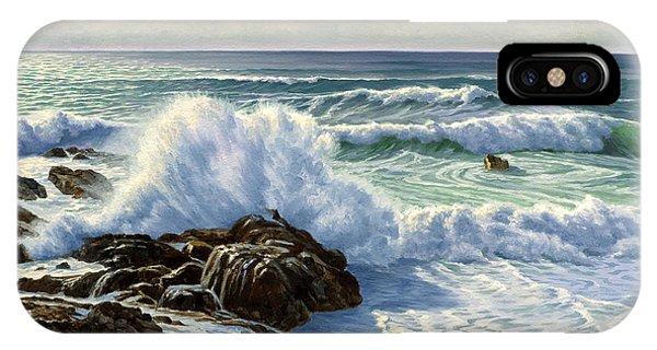 Coast iPhone Case - Splash Seascape by Paul Krapf
