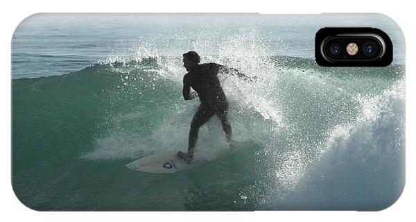 Santa Cruz Surfing iPhone Case - Splash Zone by Donna Blackhall