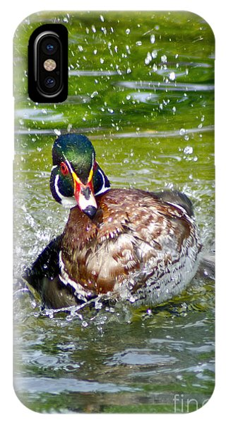 Splashdown - Wood Duck IPhone Case