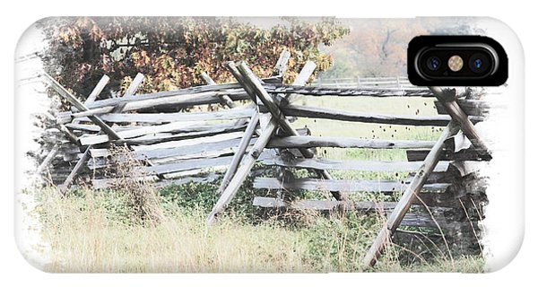 Split-rail Fence Gettysburg IPhone Case