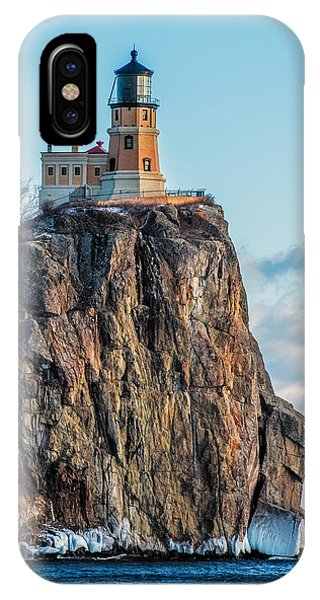 Split Rock Lighthouse In Winter IPhone Case