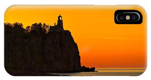 Split Rock iPhone Case - Split Rock Lighthouse by Steve Gadomski