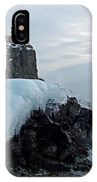 Split Rock Lighthouse Winter IPhone Case