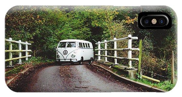 Vw Bus iPhone Case - Splitscreen Over Tewin Bridge II by Gemma Knight
