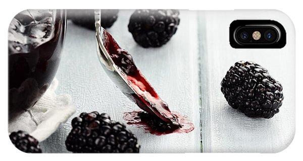 Spoon And Blackberry Jam IPhone Case