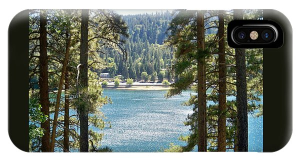 Forrest Mountain Trees Lake Scenic Photography Lake Gregory San Bernardino California - Ai P. Nilson IPhone Case