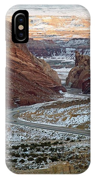 Trucking iPhone Case - Spotted Wolf Canyon by Jim West