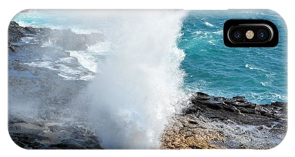 Spouting Horn In Kauai IPhone Case