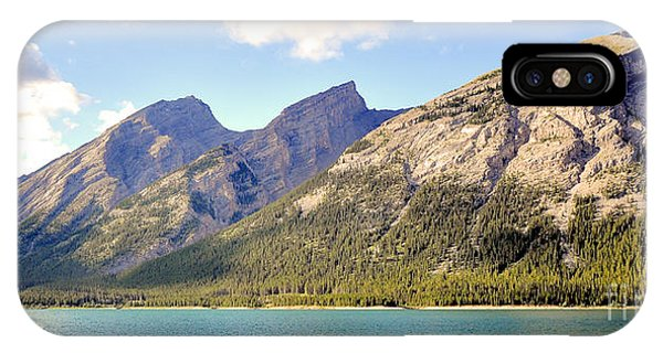 Spray Lake Mountains IPhone Case