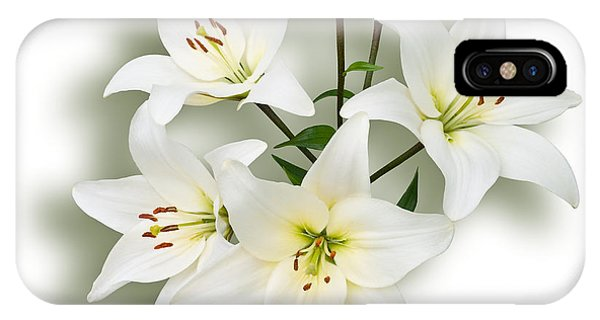 Spray Of White Lilies IPhone Case