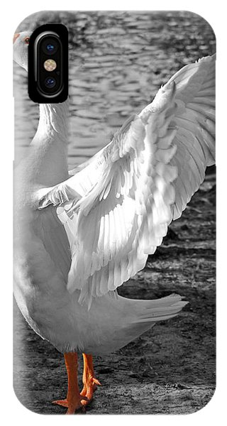 Spread Your Wings B And W IPhone Case