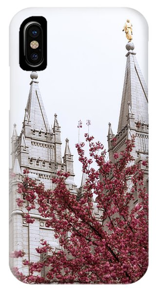 Spring At The Temple IPhone Case