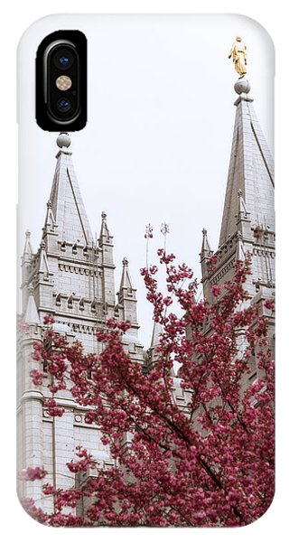 Temple iPhone Case - Spring At The Temple by Chad Dutson