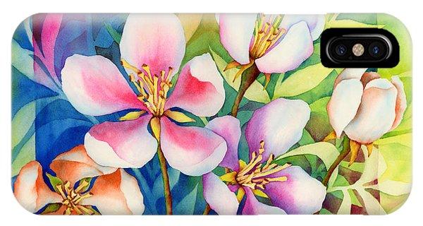 Blossom iPhone Case - Spring Ballerinas by Hailey E Herrera