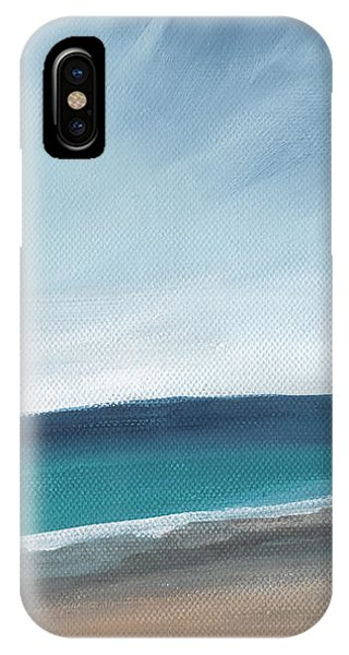 Spring Beach- Contemporary Abstract Landscape IPhone Case