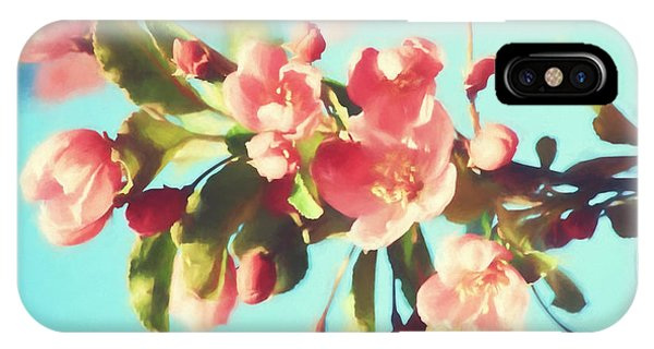Spring Blossoms In Digital Watercolor IPhone Case