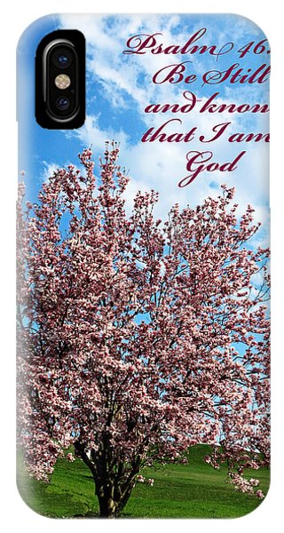 Spring Blossoms With Scripture IPhone Case