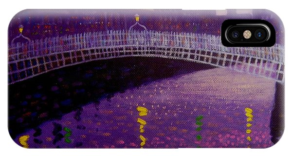 Violet iPhone Case - Spring Evening Ha Penny Bridge Dublin by John  Nolan