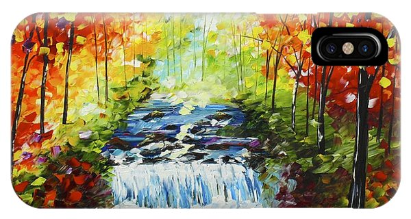 IPhone Case featuring the painting Spring Falls by Kevin  Brown