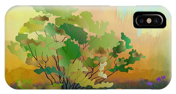 Shrub iPhone Case - Spring Field by Peter Awax