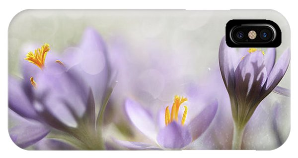 Close-up iPhone Case - Spring Flowers by Heidi Westum