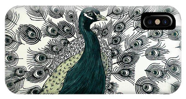 Spring Green Peacock IPhone Case