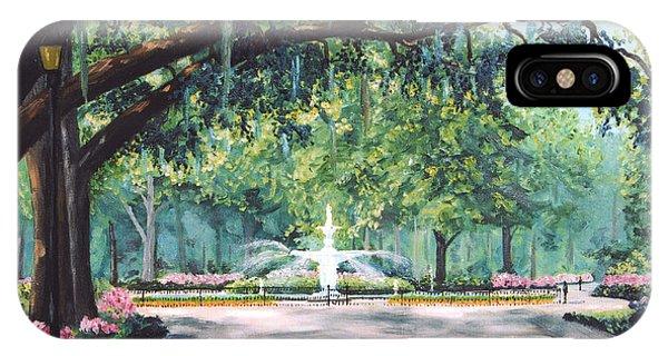 Georgia iPhone Case - Spring In Forsythe Park by Stanton Allaben