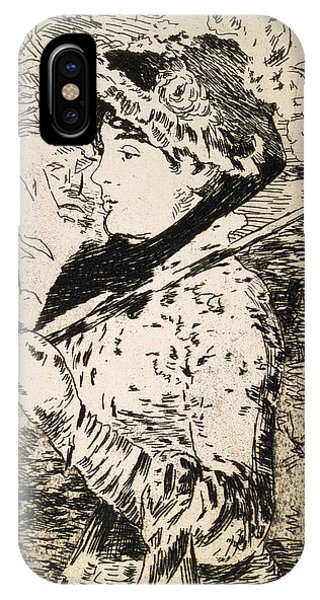 Female iPhone Case - Spring   Jeanne by Edouard Manet