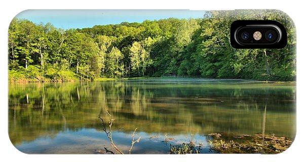 Spring Mill Lake IPhone Case