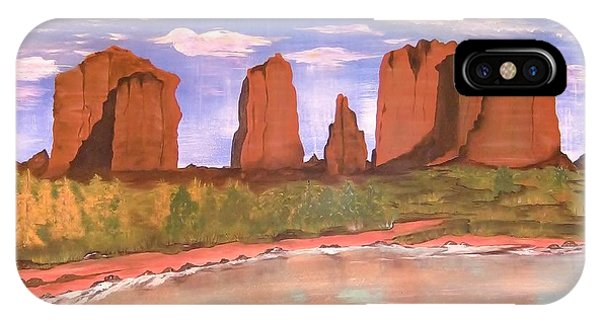 Spring Mist At Cathedral Rock Oak Creek Sedona IPhone Case