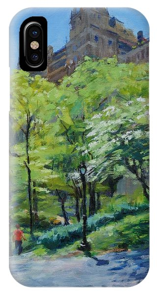 Spring Morning In Central Park IPhone Case
